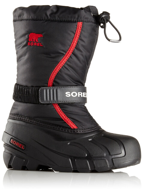 Sorel Flurry Boots Children Black/Bright Red